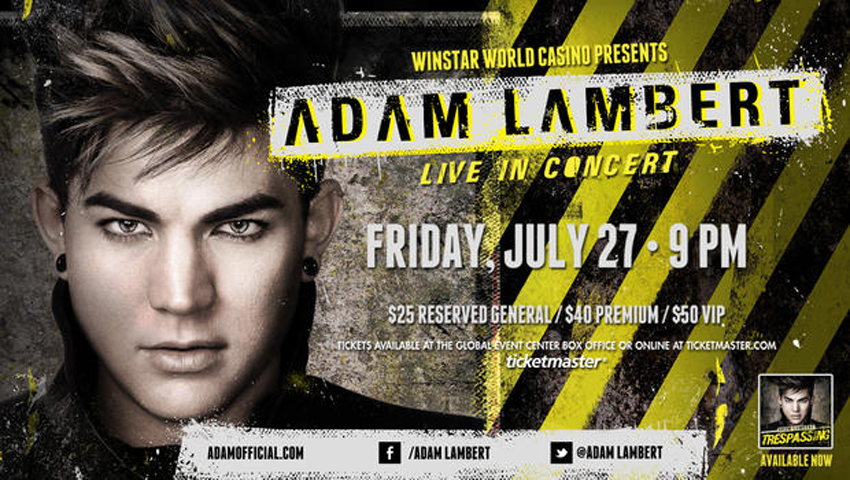 Adam Lambert - Winstar World Casino
