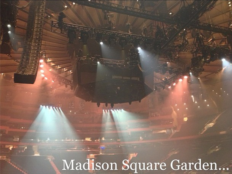 Madonna mdna tour nyc 11 12 12 rockimitatesart for Madison square garden concert tonight