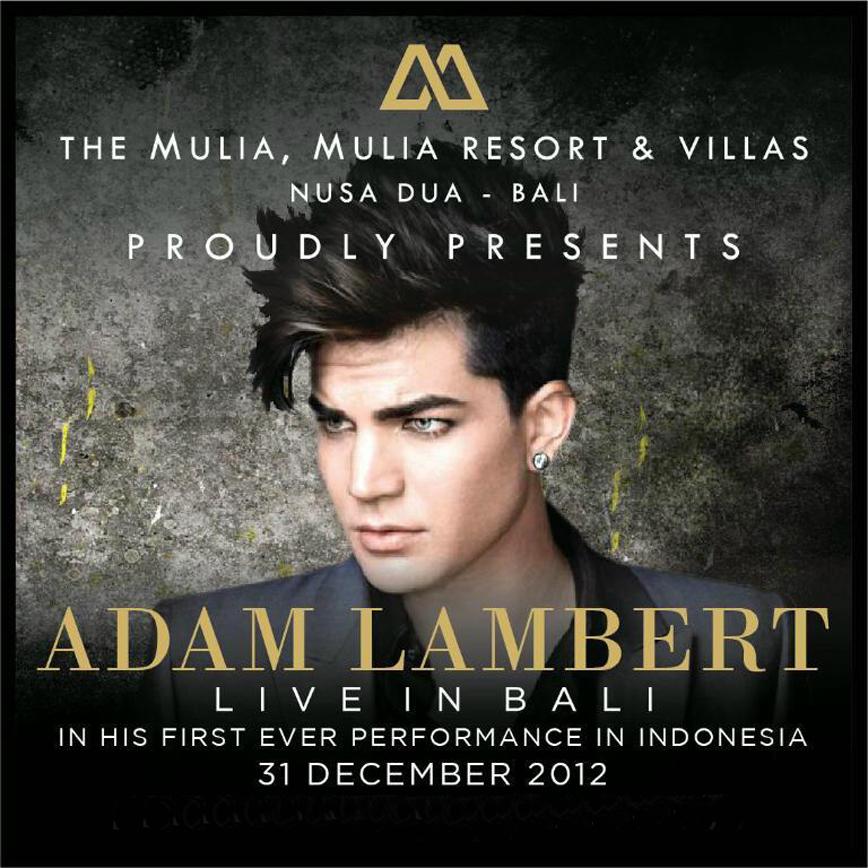 Adam Lambert – New Years Eve Concert in Bali at the Mulia Resort