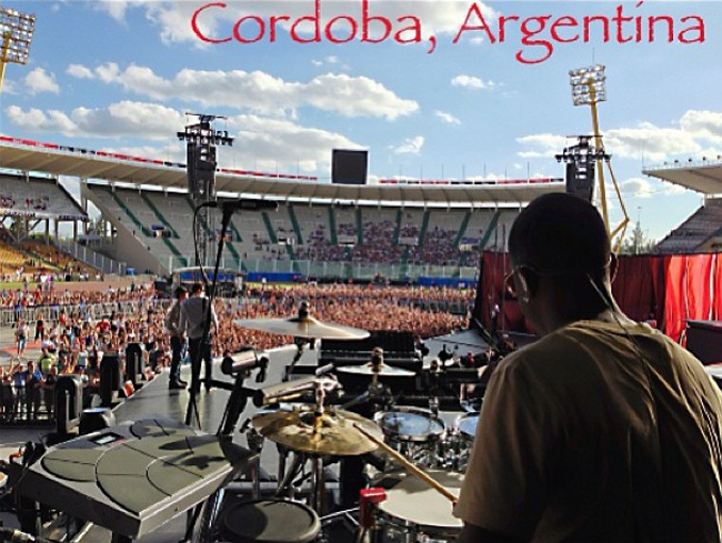 """Last MDNA Show in Cordoba, Argentina!!! GREAT Tour.. GREAT experience.. Thanks """"M"""" ~ Brian Frasier-Moore ."""