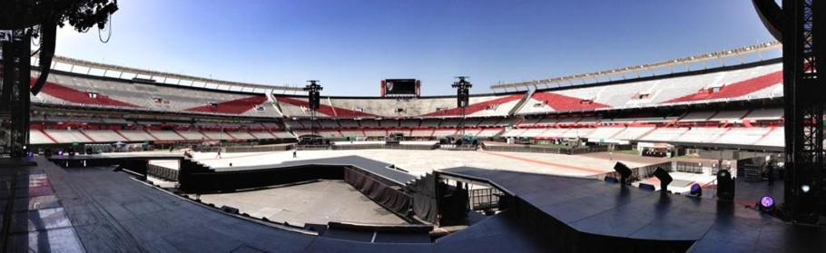Show day #1 at the massive River Plate stadium in Buenos Aires, Argentina! ~ Jason Yang