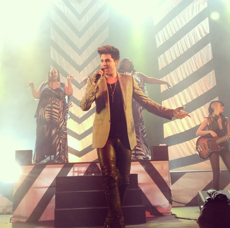 What happens when my Aunt is obsessed with adamlambert! So close! Blew him a kiss and he noticed me *fan…  ~ ‏Reese