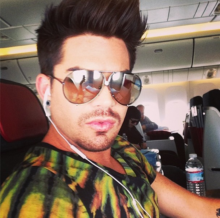 Fixin to land #lifeball ~ Adam Lambert