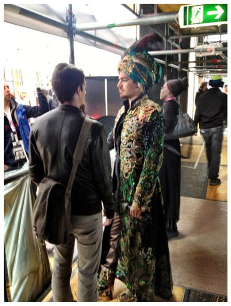For all of you Adam Lambert fans … Life Ball Backstage ~ @musicmat_AT