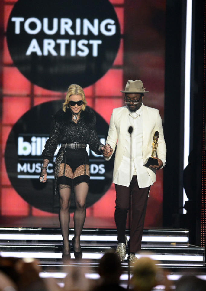 Madonna was honored as the Top Touring Artist at the 2013 Billboard Music Awards