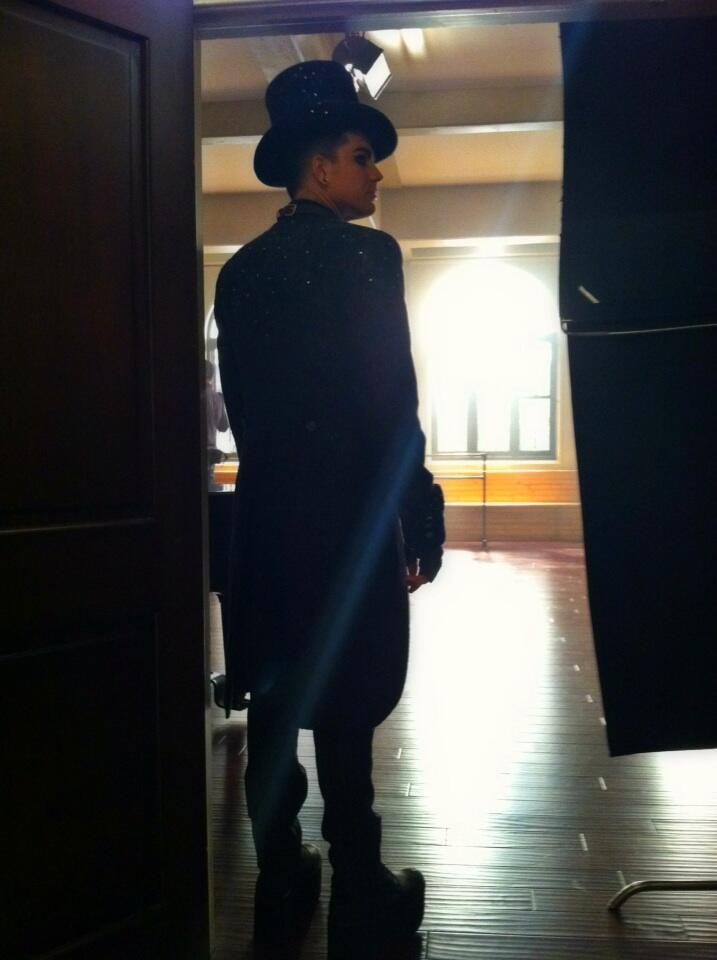 @adamlambert in-between takes on #glee.  Can't say enough how lovely he is ~ @KalanaFalana