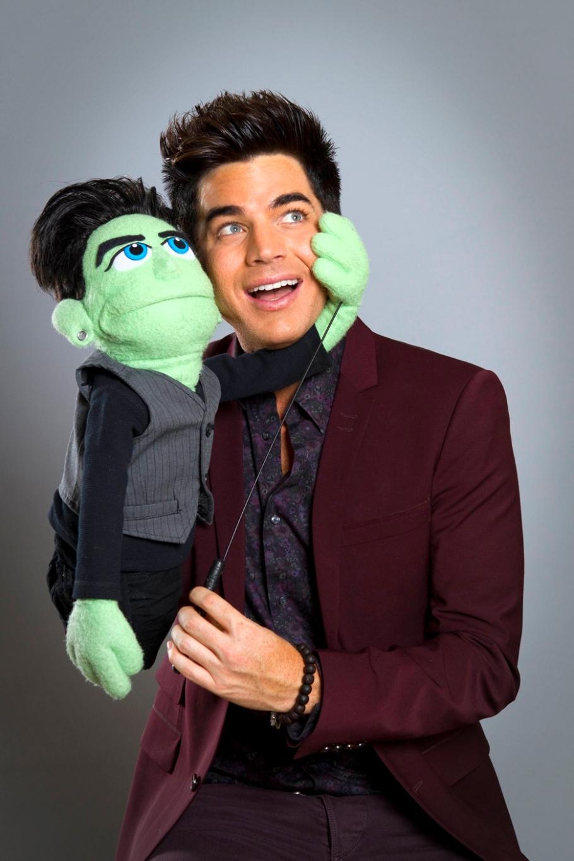 Elliott / Starchild (Adam Lambert) with his puppet in Glee's Puppet Master