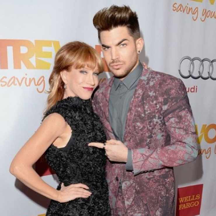 """@kathygriffin this is the right one""  - Photo via Adam Lambert's Instagram"