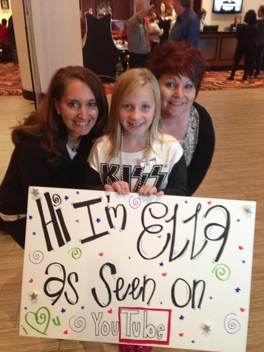 Hi @adamlambert here's Ella @glamfan0786 and me in Biloxi ready to Rock & Roll -))))) ~ Photo via @bellesxxoo