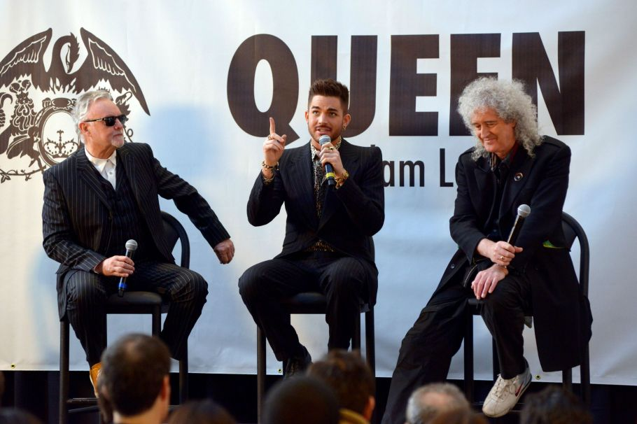 Brian May, Adam Lambert and Brian May press conference at Madison Square Garden