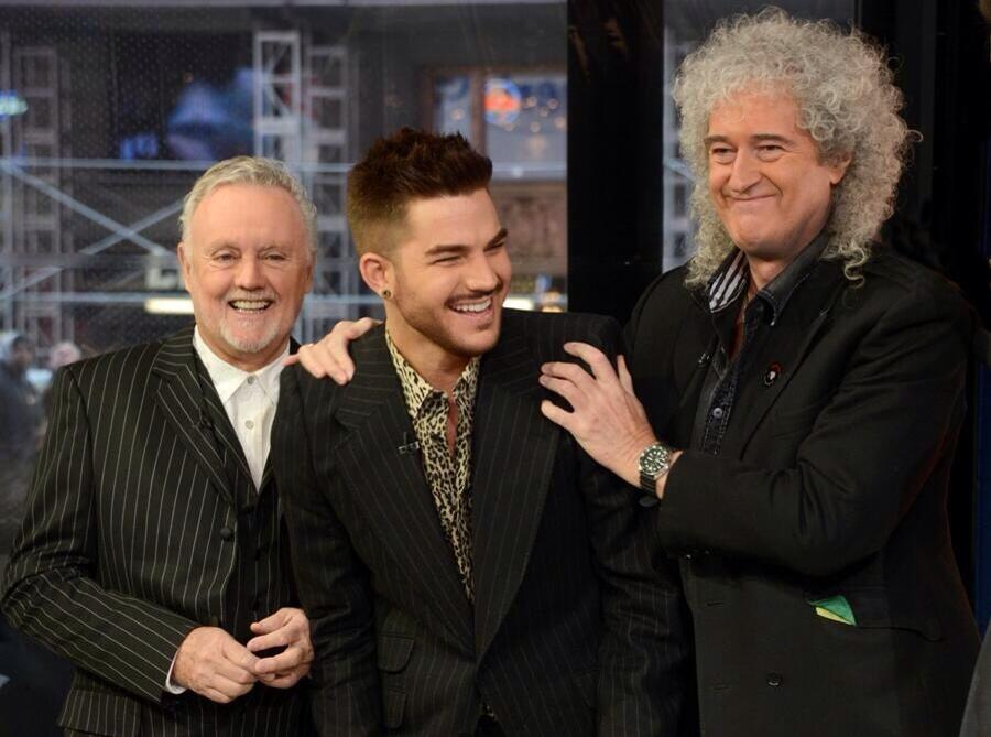 Roger Taylor, Brian May and Adam Lambert