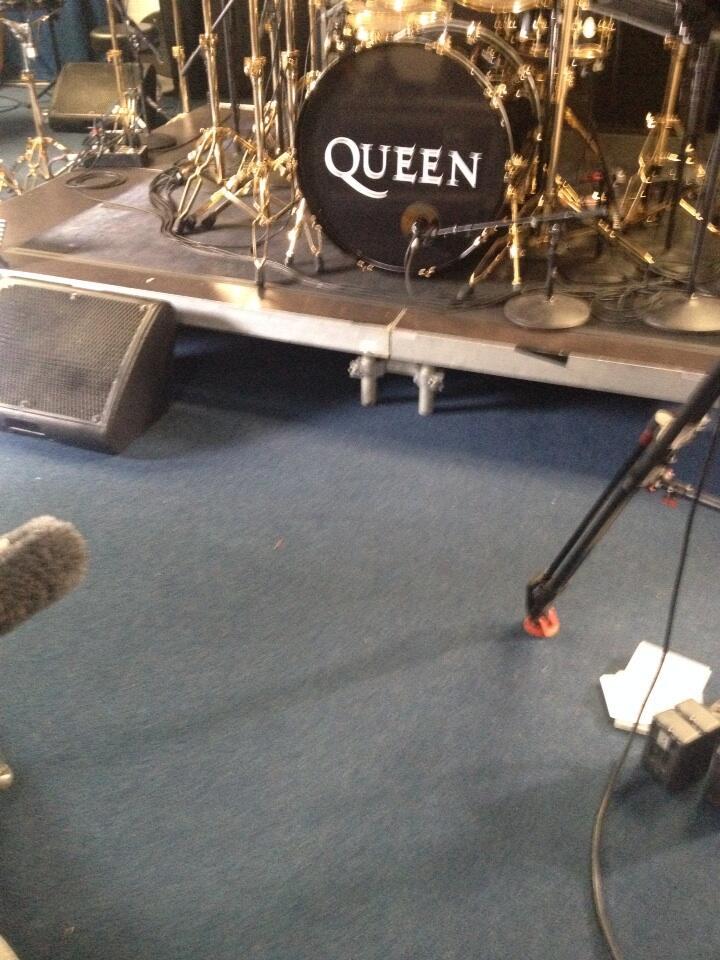 Photo tweeted by Shoshanna Stone 5/29 - Queen + Adam Lambert Rehearsal?