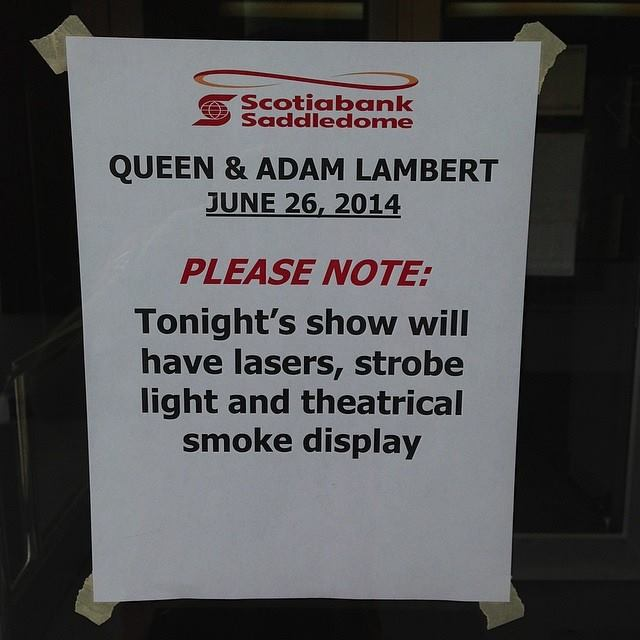 """A ...""""theatrical smoke display"""" ~ Officialqueenmusic Intagram"""