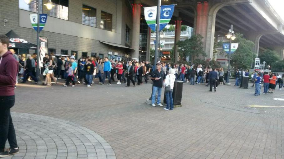 Lineups for miles to get in @RogersArena for @QueenWillRock Massive turnout Vancouver! ~ @teascape