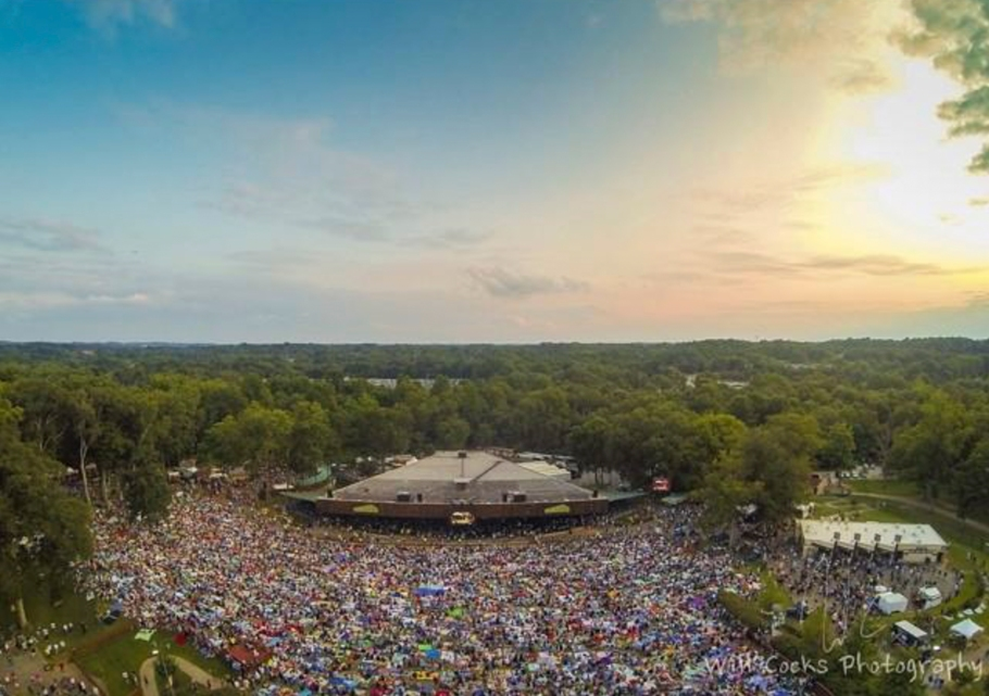 Just in case you were wondering how amazing the #QueenALMPP show looks from above. Photo Credit- Will Cocks ~ merriweatherpp Instagram