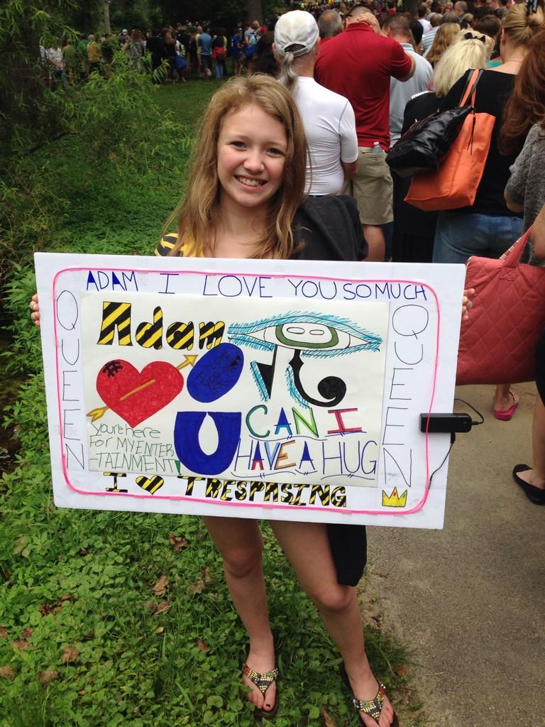 @adamlambert your biggest fan is here at Merriweather to see YOU tonight! ~ @Akconway1