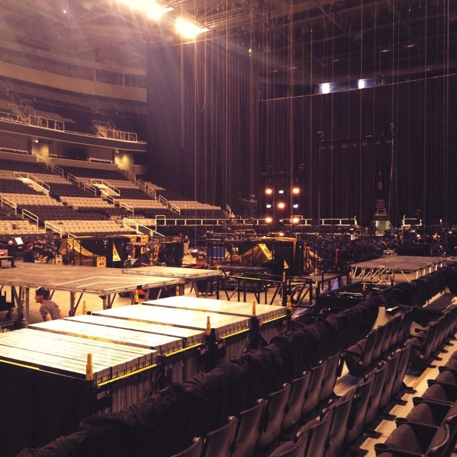 Getting ready for tonight!  ~ @SAPCenter