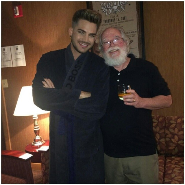 just my dad and adam lambert -) #adamlambert #queen #concert #dad #awesome ~ sarahann531  Instagram