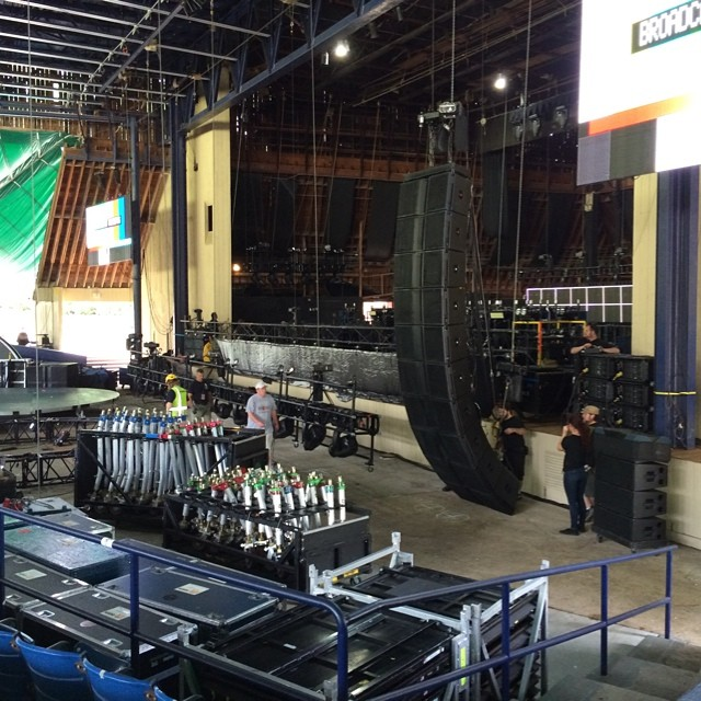 Tonight's venue ! #qal #queen #qalontour2014 #trucknroll #trucking #truckerslife #merriweatherpostpavillion #columbia #maryland #md ~ ve2jpt Instagram